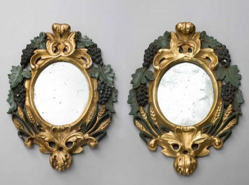 Pair of Late 19th Century Italian Mirrors