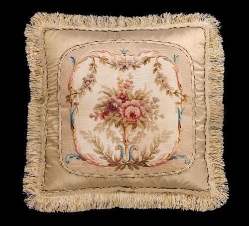 Cushion: 18th Century, Wool with Silk Highlights