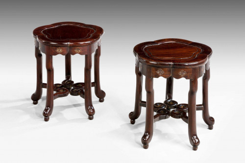 A Pair of Late 19th Century Stools