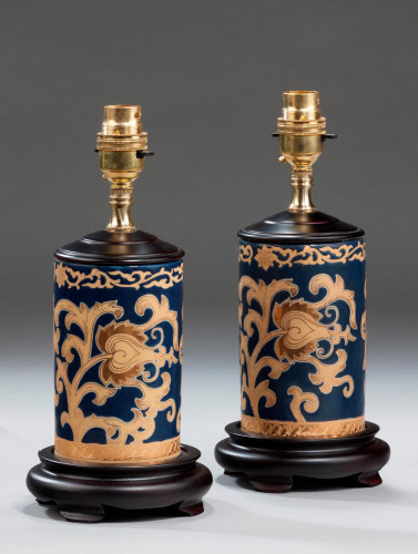 Pair of Cylindrical Lamps