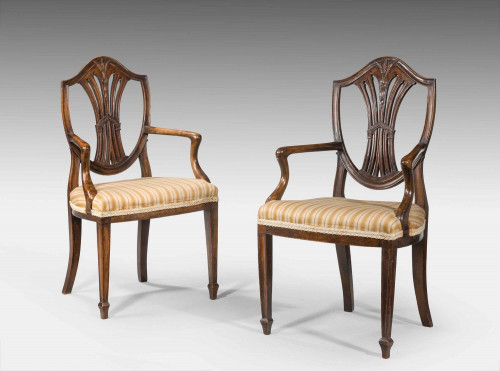 19th Century Pair of Children's Chairs of Hepplewhite Design