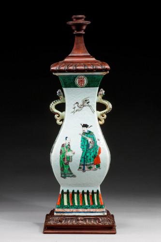 A Good Cantonese Porcelain Lamp