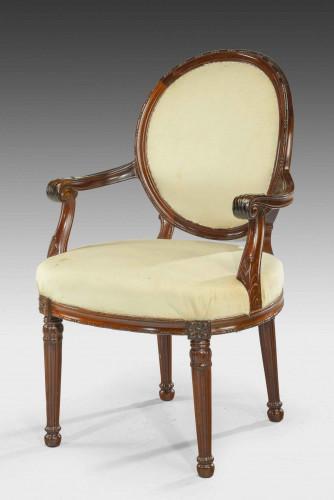 Late 19th Century Oval Back Armchair