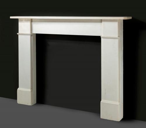 20th Century Italian Marble Fireplace
