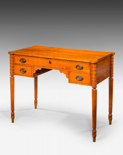 Late 19th Century Satin-Birch Side Table