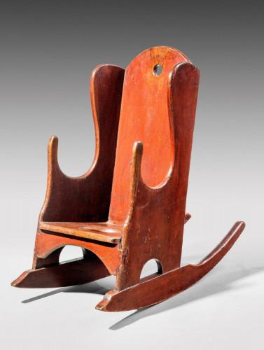 Late Georgian Period Pine Child's Rocking Chair
