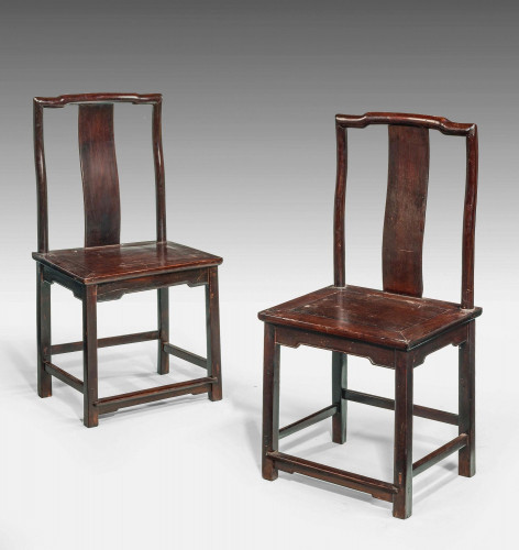 A Pair of Early 19th Century Chinese Side Chairs