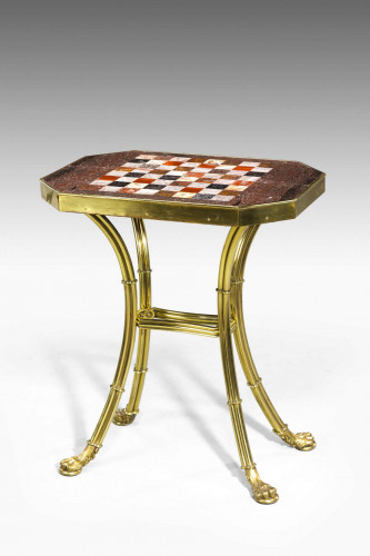 French Gilt Bronze Chess Table