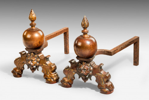 Pair of Mid 19th Century Massive Steel Andrions