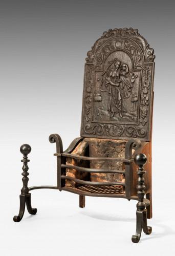Late 19th Century Iron Grate