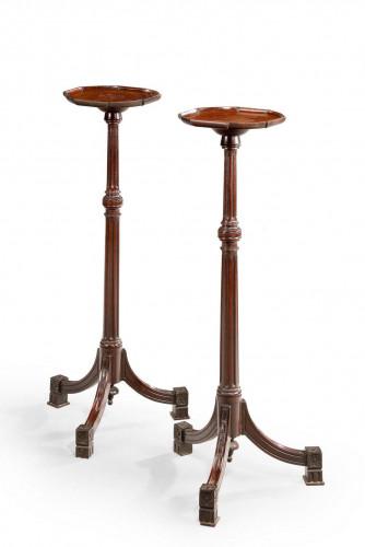 Pair of Late 19th Century Mahogany Torcheres