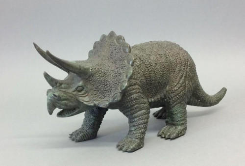 20th Century Bronze Figure of a Triceratops