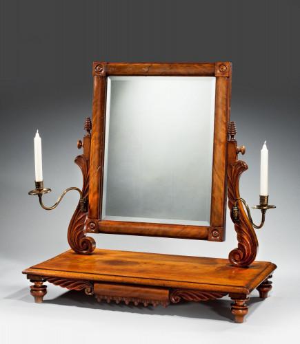 Regency Period Mahogany Dressing Mirror