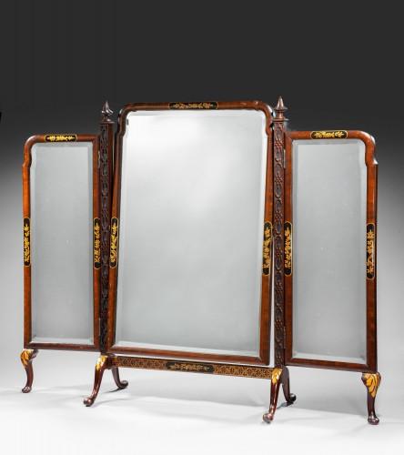 Late 19th Century Triple Plate Dressing Mirror