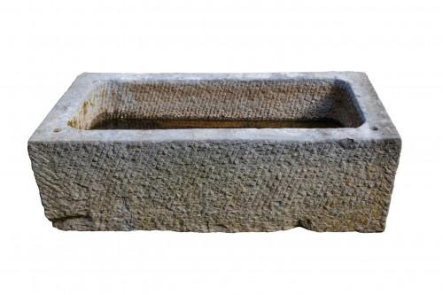 Marble Bath. 19th Century. Rectangular. 48 Inches Long