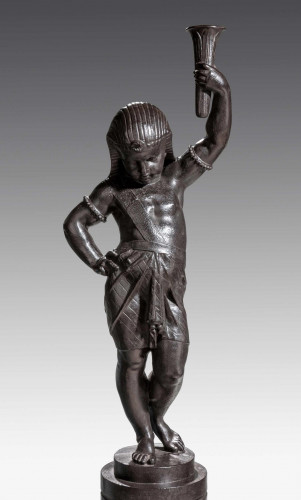 A Late 19th Century Bronze Patinated Cast Iron Figure