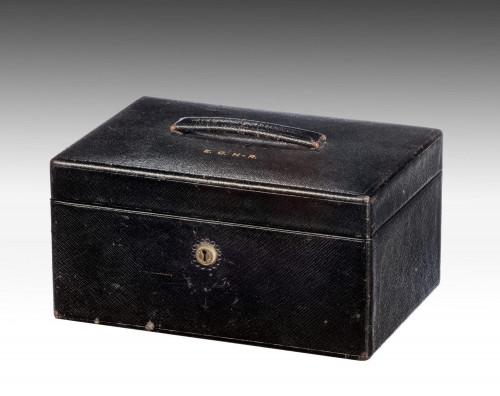Late 19th Century Leather Jewellery Box