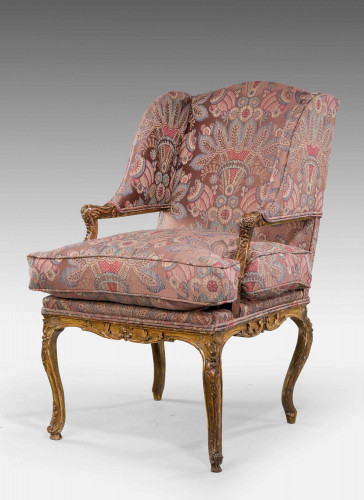 Late 19th Century Giltwood Fauteuil