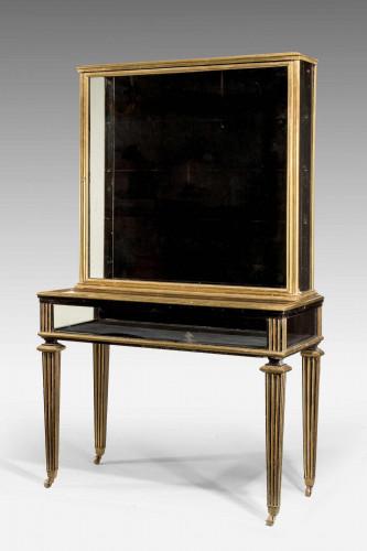 A 19th Century Ebonised Mahogany Display Table