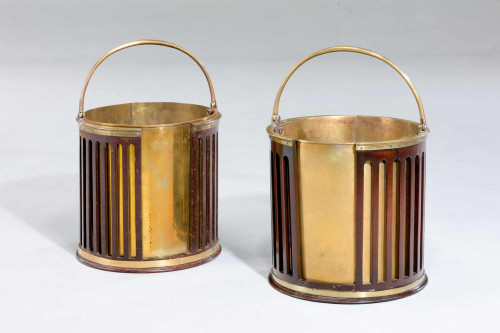 A Near Pair Of George III Period Plate Buckets