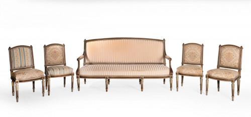 19th Century Five Piece French Salon Suite