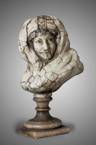 19th Century Bust of an Arab Girl