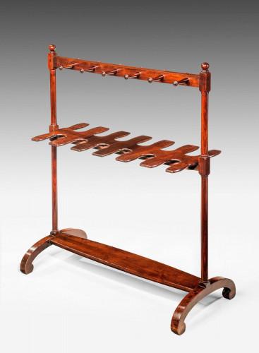 George III Period Mahogany Boot and Whip Rack
