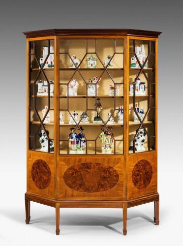 Edwardian Period Mahogany Display Cabinet