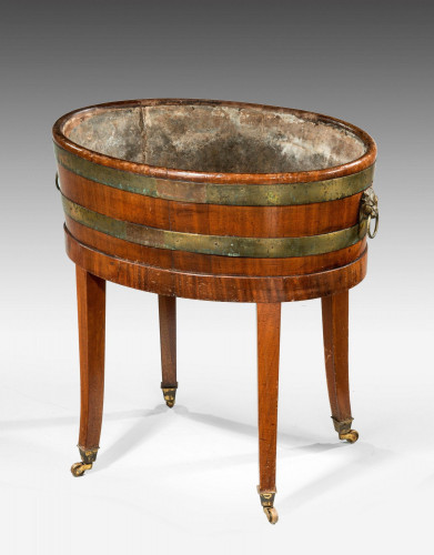 Late 19th Century Mahogany Champagne Cooler