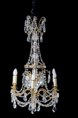 Early 20th Century Six Arm Chandelier