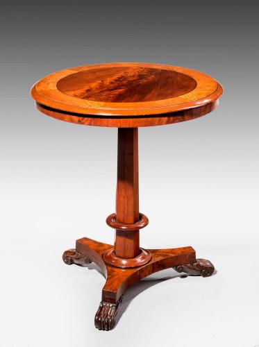 Regency Period Mahogany Circular Occasional Table