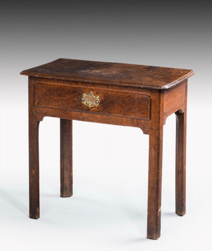 Mid 18th Century Single Drawer Side Table, on Square Shaped Supports