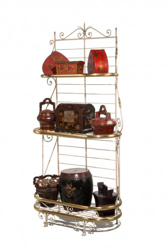 Late 19th Century Iron and Brass Panettiere