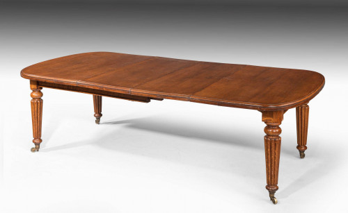 Late Regency Period Mahogany Extending Dining Table with Reeded Decoration