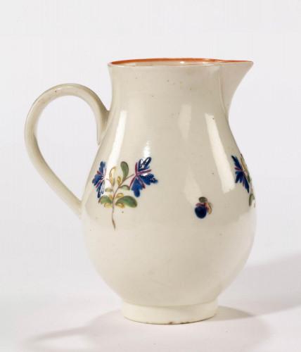 Late 18th century sparrow beak Liverpool porcelain jug