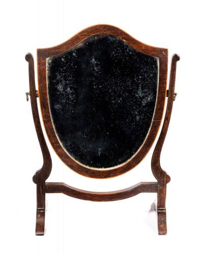 Early 20th century mahogany heart shaped dressing mirror