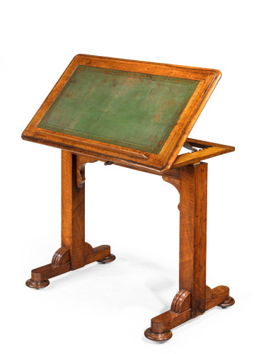 Regency Period Mahogany Writing Table with a Sliding Height Mechanism