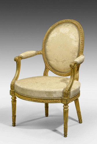 Chippendale Period Giltwood Elbow Chair