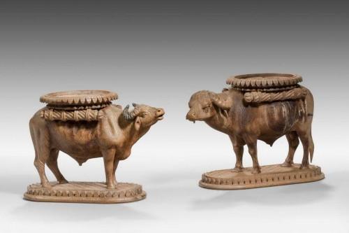 Pair of Late 19th Century Water Buffalo
