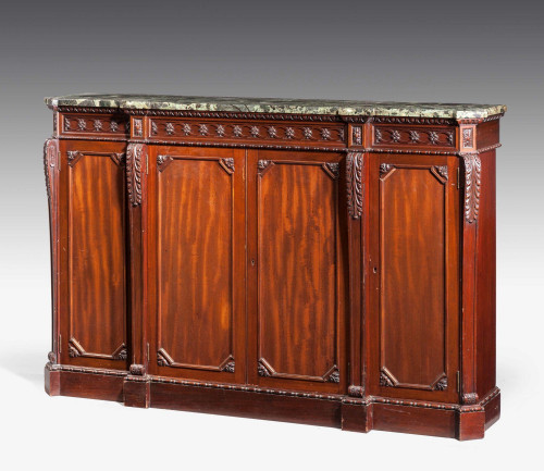 Late 19th Century Breakfront Side Cabinet