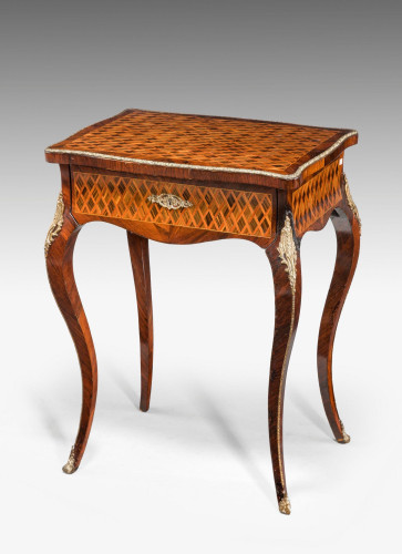 A Kingwood Parquetry Ladies Work Table