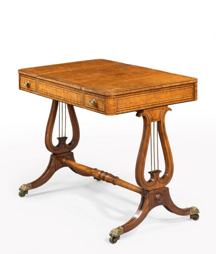 Regency Period Maple and Burr Maple Games Table
