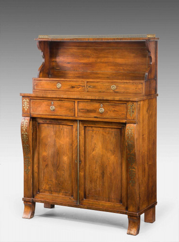 An Attractive Regency Period Rosewood Side Cabinet