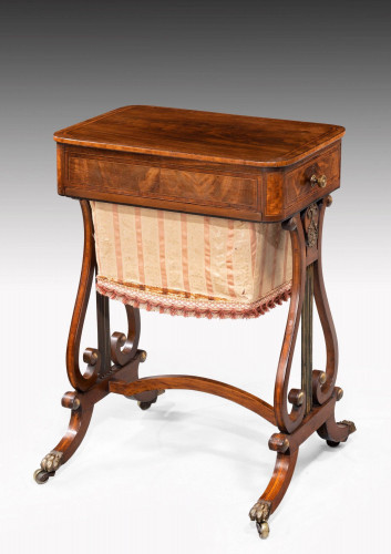 Regency Period Mahogany Work or Sewing Table