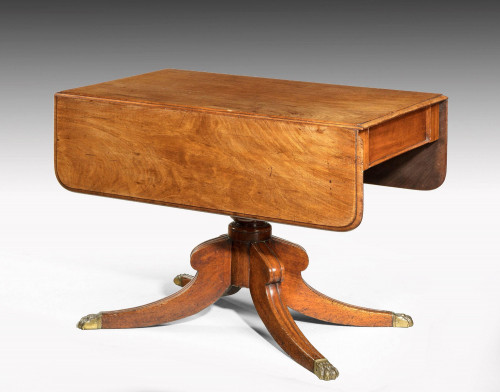 Regency period mahogany Pembroke table on a well turned centre support