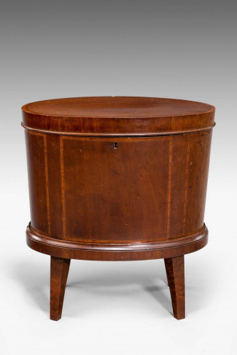 George III Period, Enclosed Wine Cooler with Boxwood Stringing