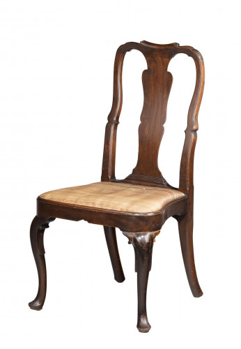 George II Period Mahogany Single Chair of Queen Anne Design