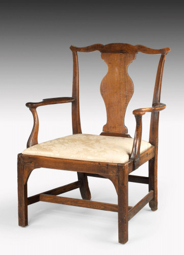 Mid 18th Century Elbow Chair of Very Substantial Proportions