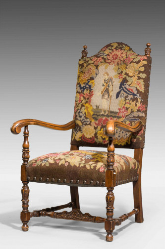 A Good 19th Century Walnut Framed Chair