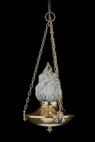 Regency Style Single Light Chandelier.